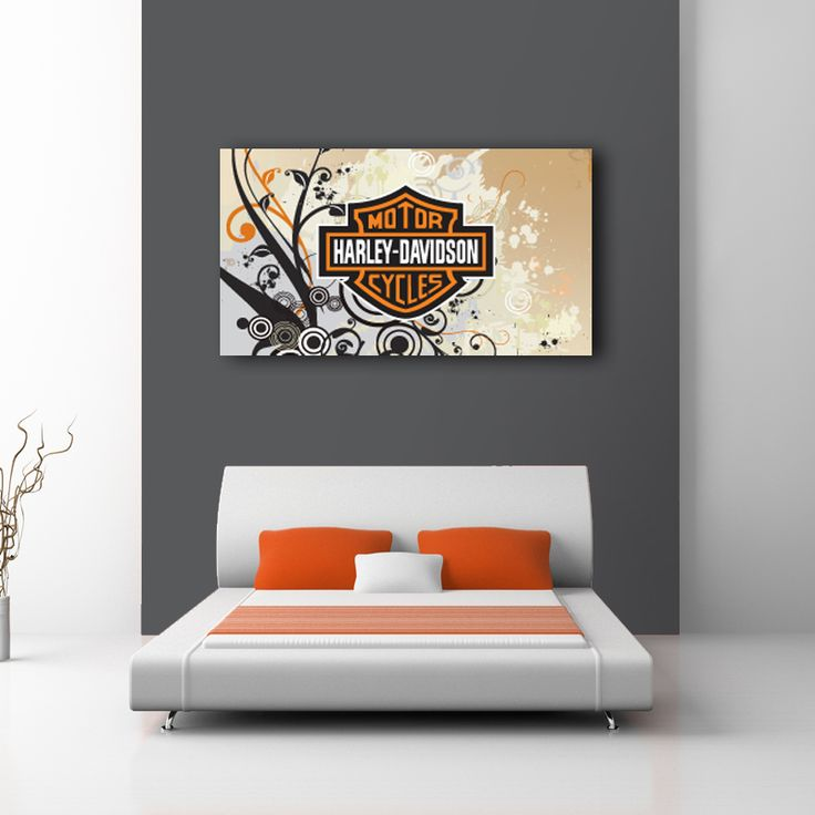 For The Hog Enthusiast In All Of Us. Beautiful Harley Davidson Logo Design  On Canvas Part 63