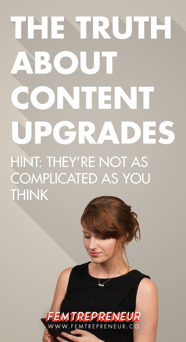 The Truth About Content Upgrades