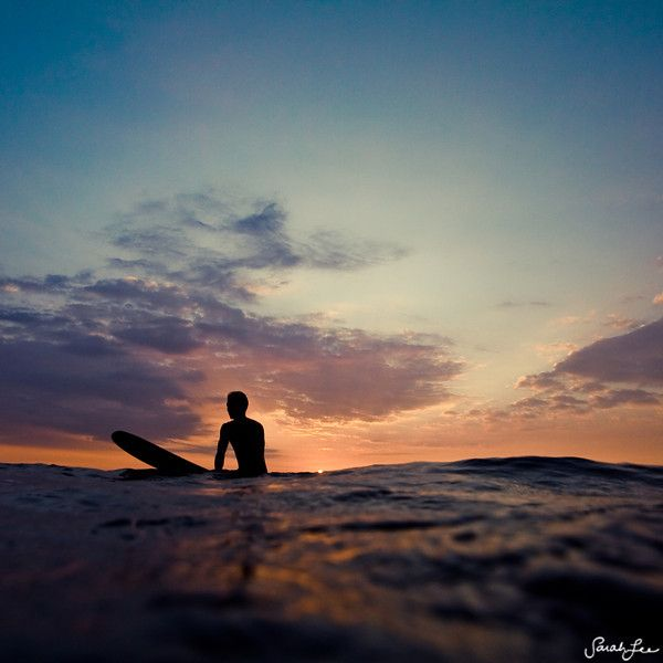 Typical Silhouette of a surfer