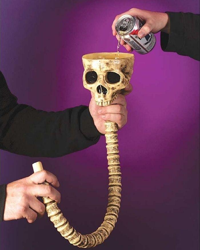 Skull And Spine Beer Bong