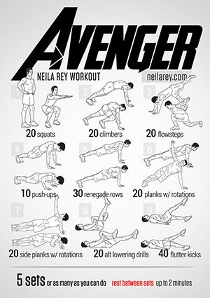 New no-equipment workouts every week that you can print out. Based on books, movies, superheroes, etc. Also a silent workout, one you can do in an office, etc. Also look at the challenges tab.