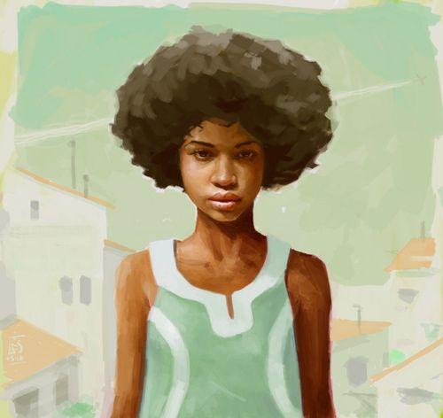 Natural Hair (Art)Little Girls, Friends, Filip Dos, Artworks, Beautiful, The Saint, African Art, Nature Hair Art, Kinky Curly Hair