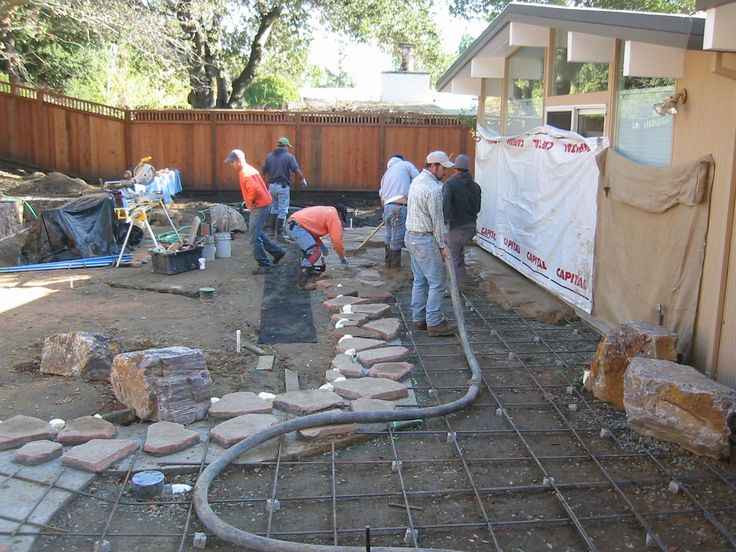 Pouring The Concrete Patio