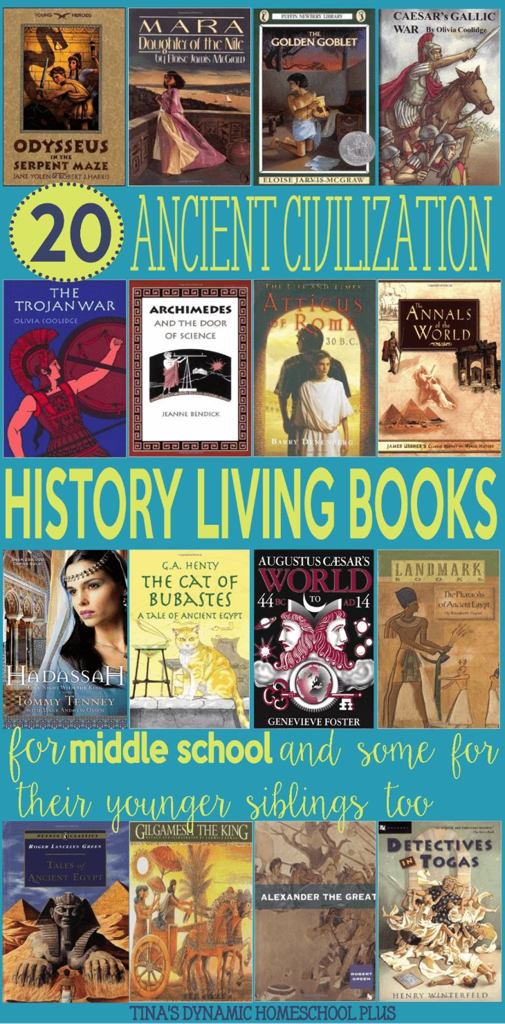 20 Ancient Civilization Living History Books for Middle Schoolers & Some for their Younger Siblings too @ Tina's Dynamic Homeschool Plus