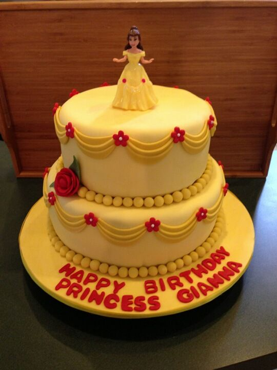 "Belle Cake for   ""Princess Gianna's 4th Birthday!"""