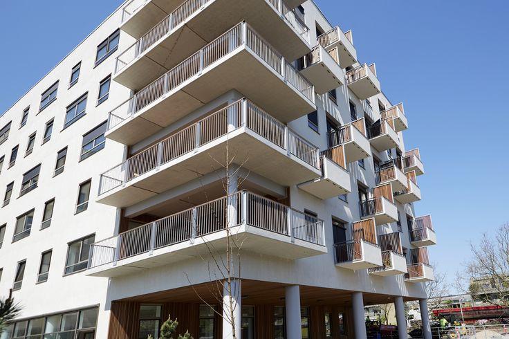 Bangkirai terrasse og facadelister - Akaciegården. Foto: Keflico A/S.
