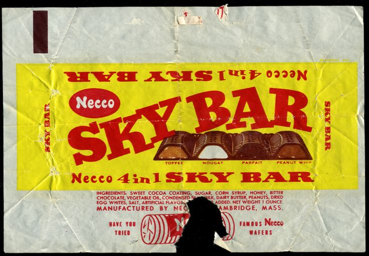 Necco - Sky Bar candy wrapper 1950's 1960's | Based on the d… | Flickr