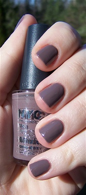 NYC's Park Ave nail polish. I just got it the other day and I am completely obsessed with the color!