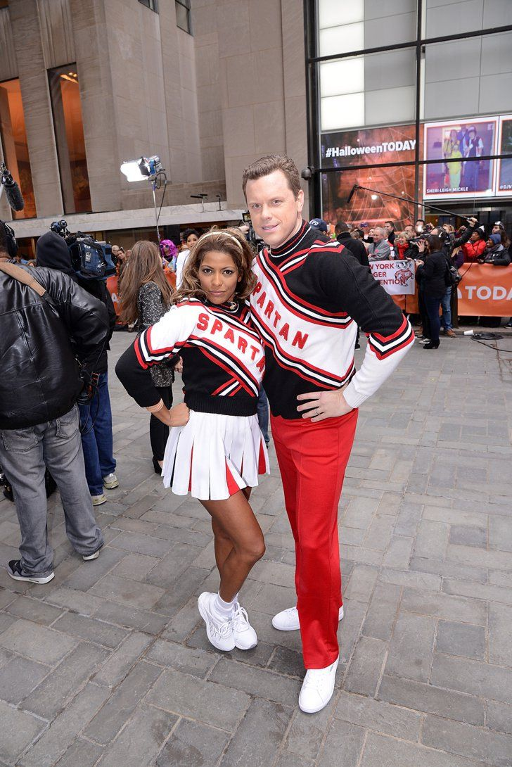 Pin for Later: The All-Time Best Celebrities in Pop Culture Costumes The Spartan Cheerleaders Anchors Tamron Hall and Willie Geist were SNL's Spartan cheerleaders in 2014.
