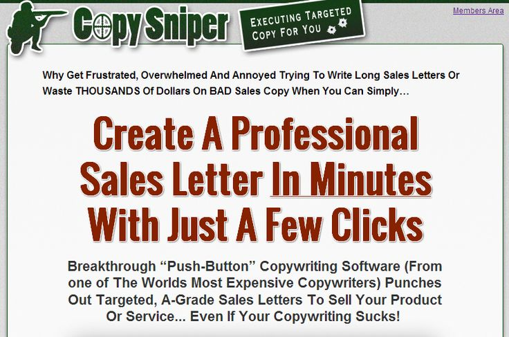 New Pro Copywriting Software for creating Grade A Sales Letters - professional sales letter