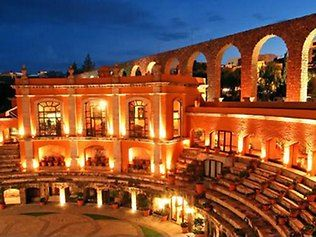 A hotel in a old bullfighting ring in Quinta Real Zacatecas, Mexico