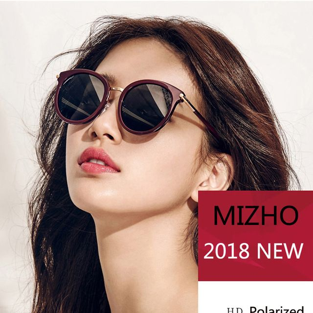 5d60d6e0a6 MIZHO Nano Revestimento de Vácuo Espelho de Alta Qualidade óculos de Sol  Para As Mulheres Oval polarizada UV400 Lente HD Óculos de Sol olho de Gato…