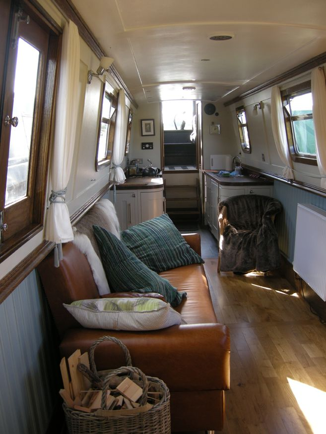 Marvelous 57u0027 Stunning Narrowboat. House Boat InteriorsNarrowboat ... Part 16