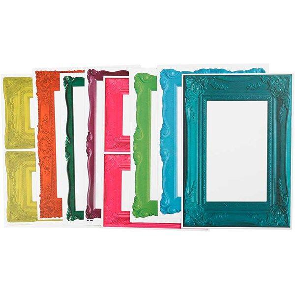 Kehykset, arkki 26,2x18,5 cm, 16 laj. arkki, vahvat värit