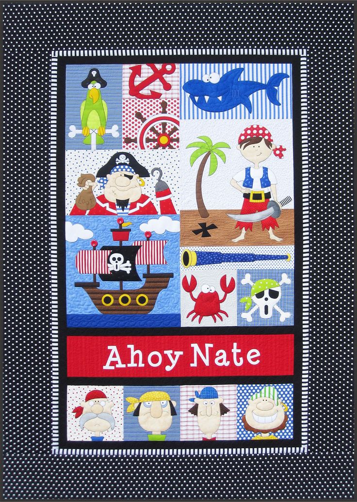 Amy Bradley Designs Pirates quilt pattern