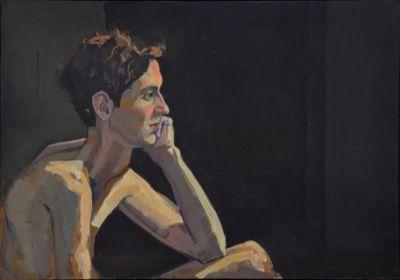 Rodgerson,Jenny Jasper in Contemplation oil on board Image Size: 45.5 x 66cm