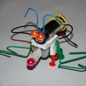 how to make your own robot--Bear electives 4d & 7d, Webelos engineering 6 (add switch & light) & craftsman.  Too fun!