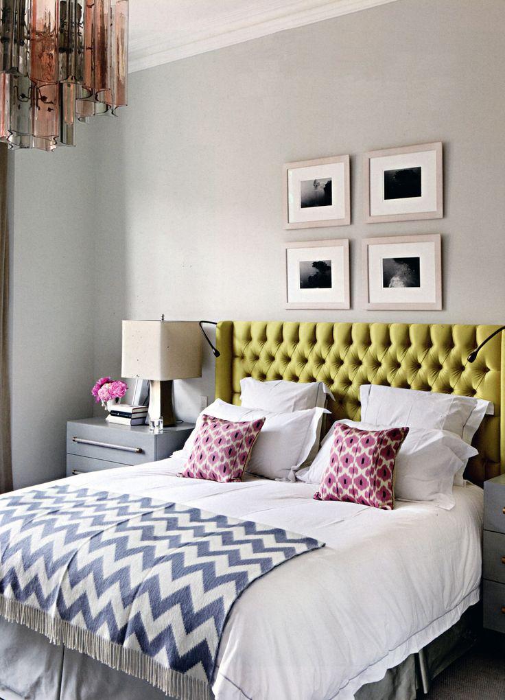 Madeline Weinrib Pink Daphne Ikat Pillows, via House & Garden UK, photo by Alexander James
