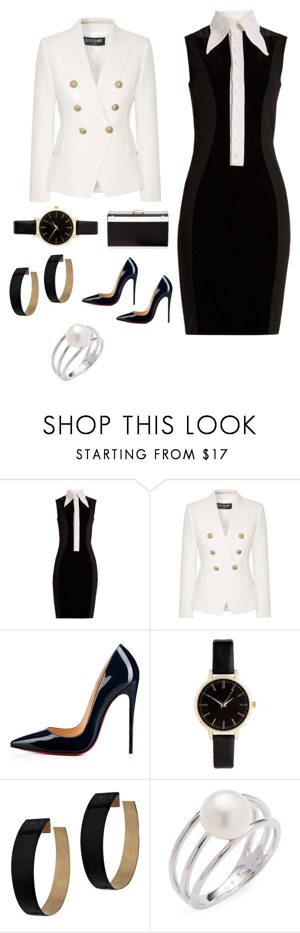 """Outfit entrevista laboral formal"" by olga-pazgarcia on Polyvore featuring moda, Givenchy, Balmain, Christian Louboutin, Zimmermann, Baggins y Giuseppe Zanotti"