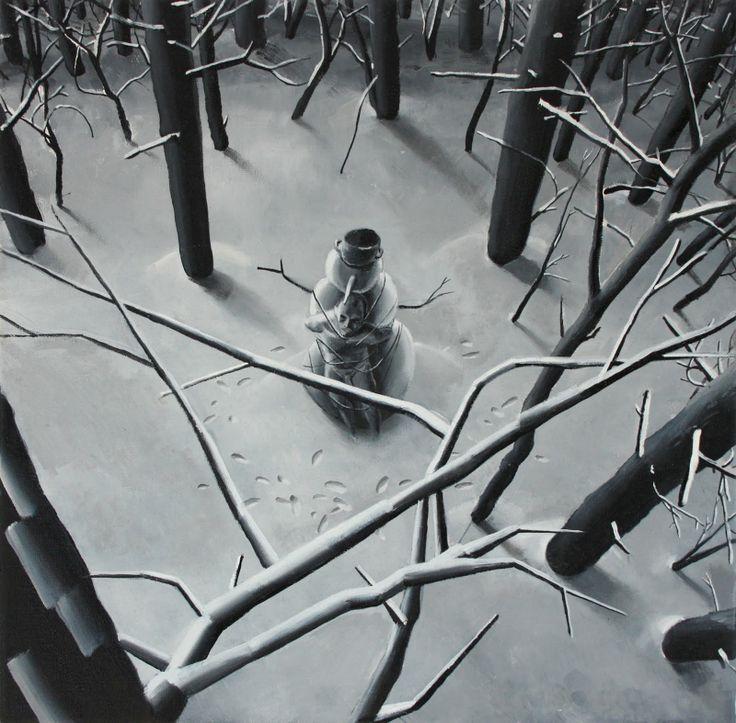 Seria zimowa II, 2010, olej, 40cm 40cm, autor Bartek Buczek