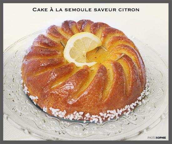 Épinglé Par Yasmina Samira Sur Cake: Cake à La Semoule Saveur Citron