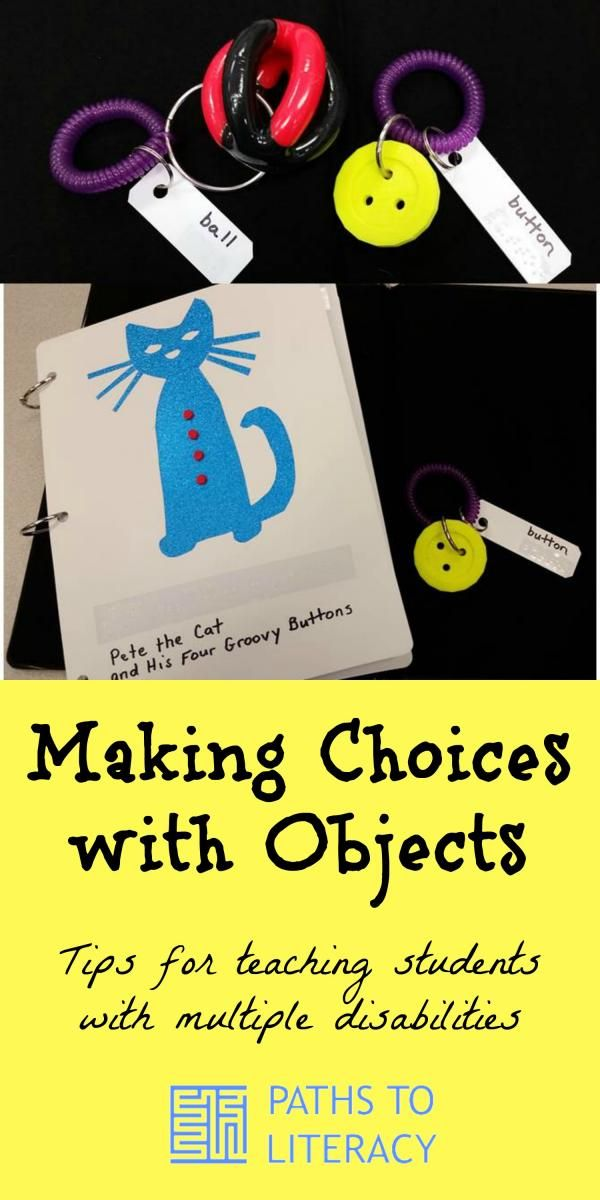 Tips for teaching students with multiple disabilities to make choices using objects