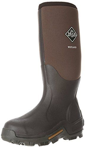 Men's Muck Boot Company Waterproof Wetland Rubber Hunting Boots Bark, BARK, 10M -- Click image for more details.