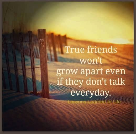 True Friends Wont Grow Apart Even If They Dont Talk EVery Day