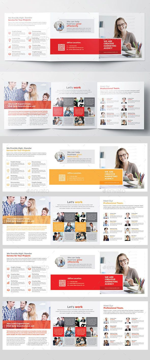square trifold brochure fully editable brochure template brochure