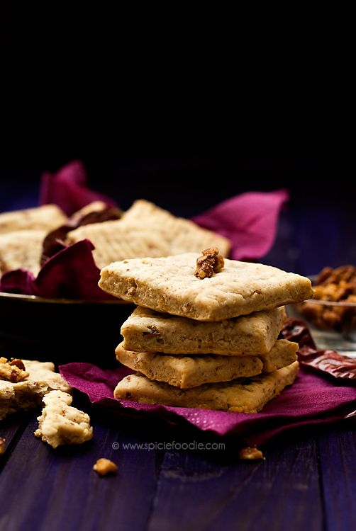 Spicy Goat Cheese, Pecan and Paprika Shortbread