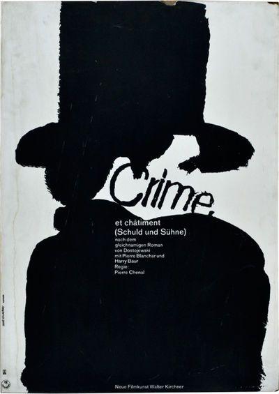 Crime et châtiment [Crime and Punishment] [Schuld und Sühne] (Original poster…