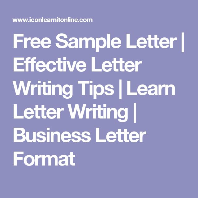 Free Sample Letter | Effective Letter Writing Tips | Learn Letter Writing | Business Letter Format