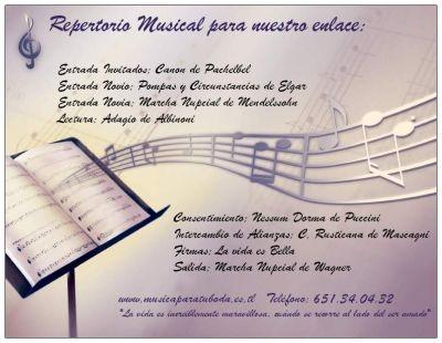 MUSIC FOR YOUR CEREMONY IN ALICANTE, MURCIA, ALBACETE, VALENCIA www.musicaparatuboda.es.tl