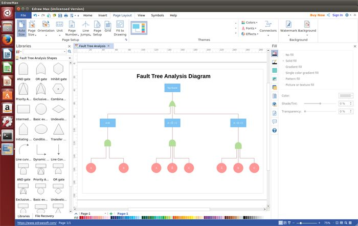 Edraw Fault Tree Analysis Diagram Software For Linux Is A Pretty