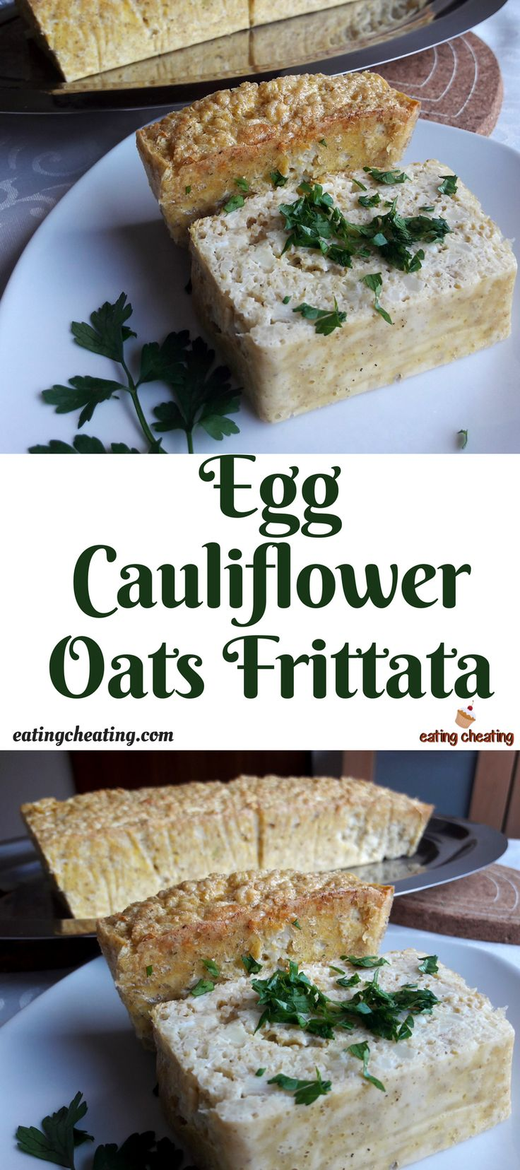 Here is one more easy and healthy breakfast recipe. For this breakfast recipe I came up with an idea for making egg frittata in a combination wth cauliflower and oats. This egg frittata with cauliflower and oats is very simple to make, baked in oven, and your breakfast will be full of healthy ingredients and it will taste delicious!