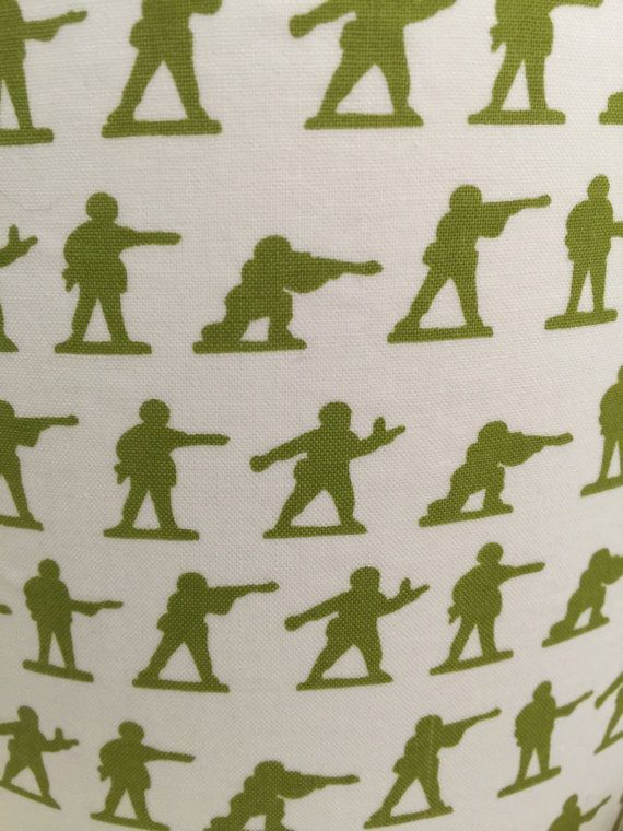 Lampshade covered in Military Max Toy Soldier by TheMontyDogShop