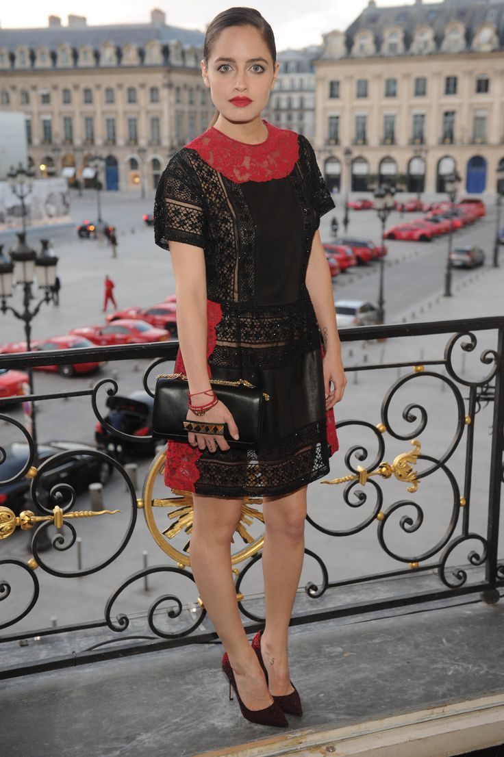 Matilde Gioli during the Cash & Rocket charity event at the Valentino headquarters in Place Vendome, Paris.
