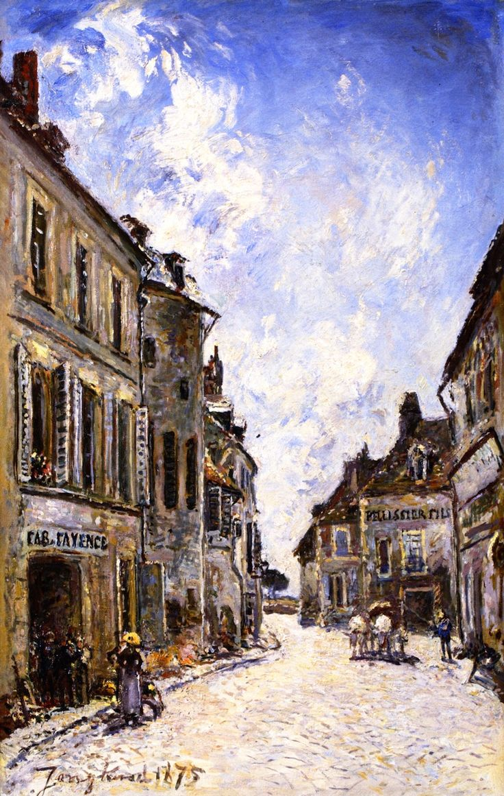 The Athenaeum - The Rue Saint-Genest in Nevers (Johan Barthold Jongkind - )