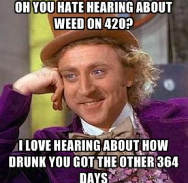 Have some stoned laughs with this collection of weed themed stoner memes.
