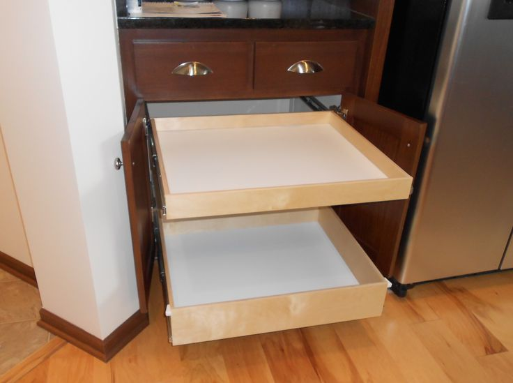 Fresh Kitchen Cabinet Sliding Shelves