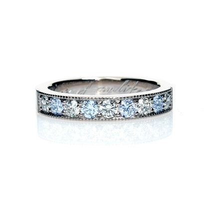 white sapphire ring aquamarine wedding band white gold blue wedding sapphire