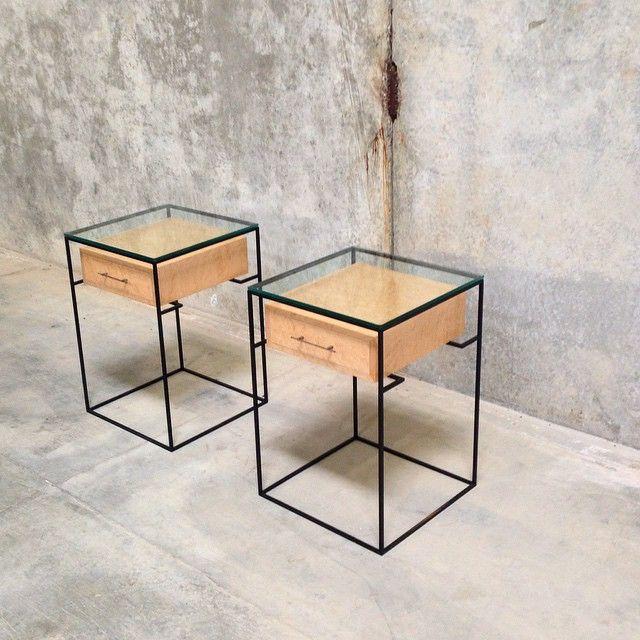 "Codor Design Instagram ""Industrial chic anyone? Custom maple and blackened steel"""