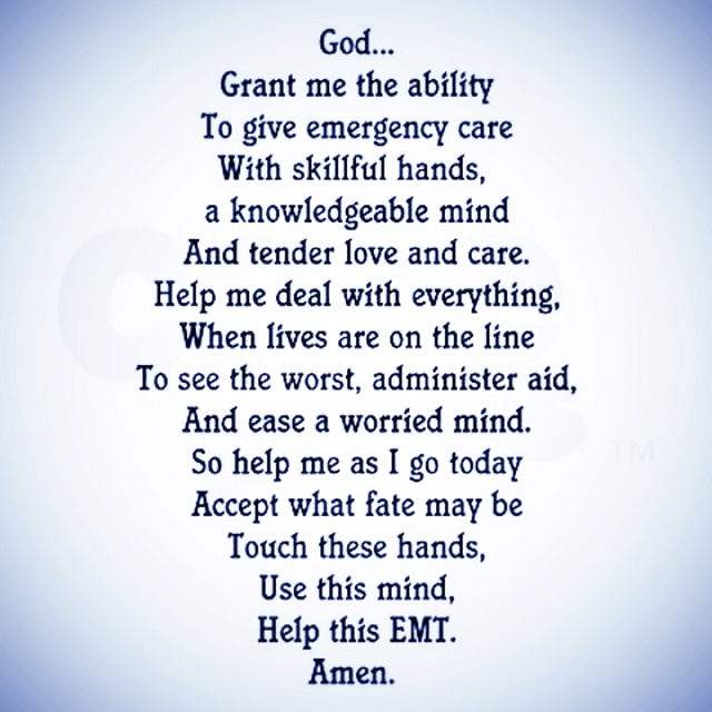 EMT prayer | For Chastity!(: | Pinterest