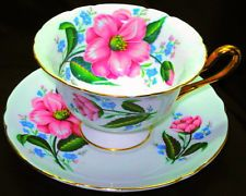 SHELLEY ONE SET CAMELLIA WILD ROSE GAINSBOROUGH TEA CUP AND SAUCER