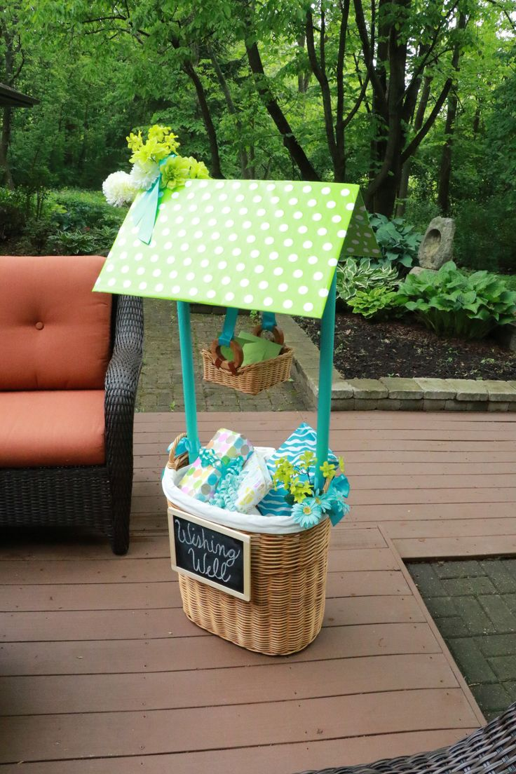 DIY 4 steps to creating this wishing well in your next baby or bridal shower!