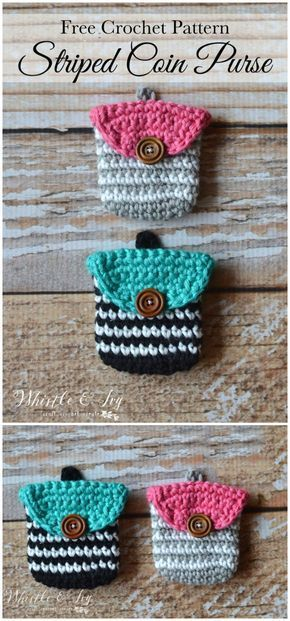 I have rounded up some of the best and interesting free Crochet patterns for your home!Crochet Striped Coin Purse