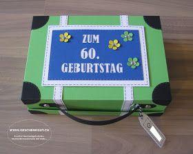 Einen Reisegutschein zum 60. Geburtstag durfte ich in diesem     Reisekoffer mit Strandmotiv     verpacken.     Der Koffer hat eine Grösse...