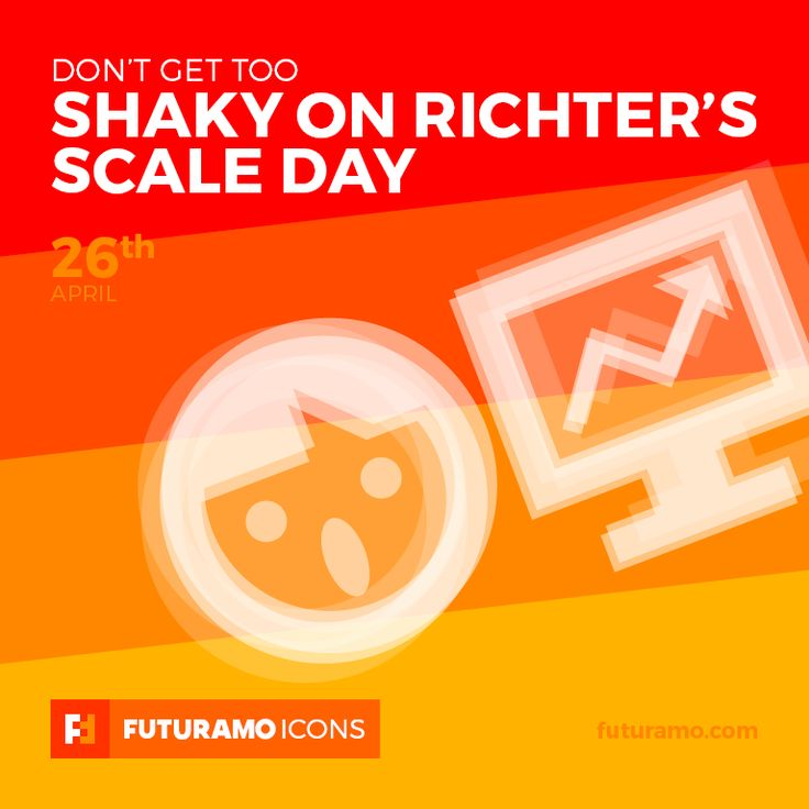 Don`t get too shaky on richter's scale day! Check out our FUTURAMO ICONS – a perfect tool for designers & developers on futuramo.com