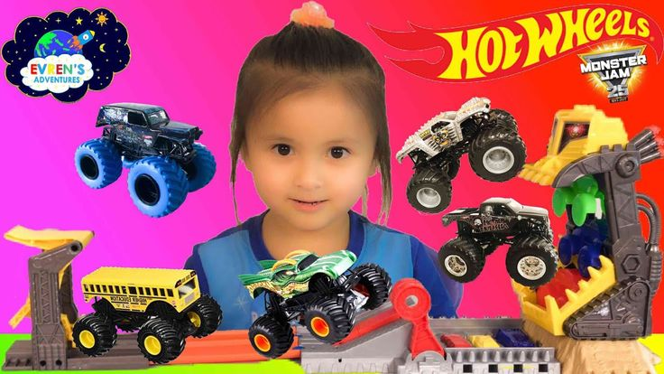 Hot Wheels Monster Jam Front Flip Take down Track set Monster jam Trucks Tour Favourite Surprise Toys Challenges Evren Adventures ToysReview. Thanks for joining Evren to unbox the Monster Jam Front Flip Take down Track set from Hot Wheels. This Track set come with  the 1:64 scale Max-D monster truck.