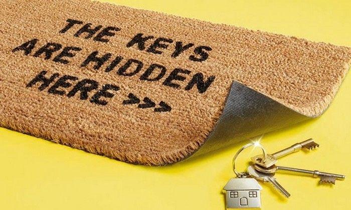 10 идей, куда спрятать запасной ключ